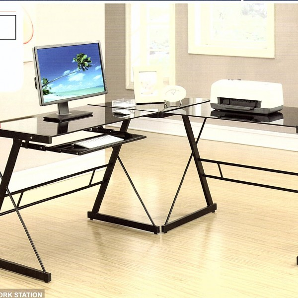 Counter Height Work Station : Work Station Computer Desk Three PCS. NNR International Furniture